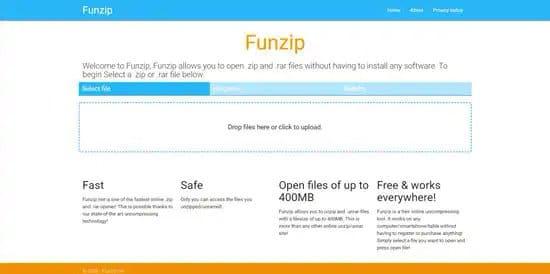 Descomprimir archivo rar con Funzip