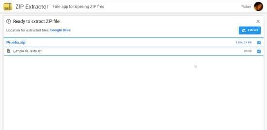 Extraer archivos rar en Google Drive