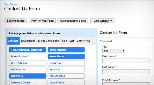 Interface de formulario