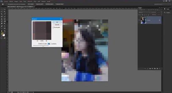 Pixelar un rostro de una foto con Photoshop