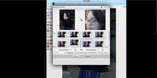 Pixelar un rostro en una imagen con Phixr