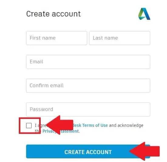 Crear cuenta en AutoCad