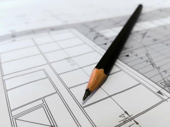 Diseños de planos realizados en papel