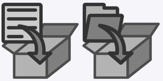 Formatos de archivos en WinZip