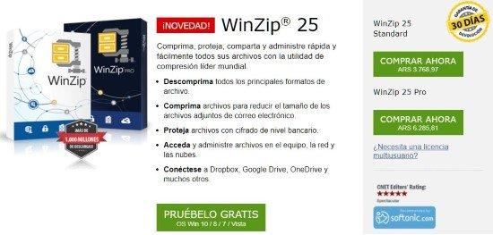 Descarga de WinZip gratis
