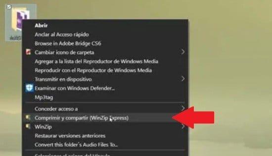 Pasos para comprimir archivos con WinZip