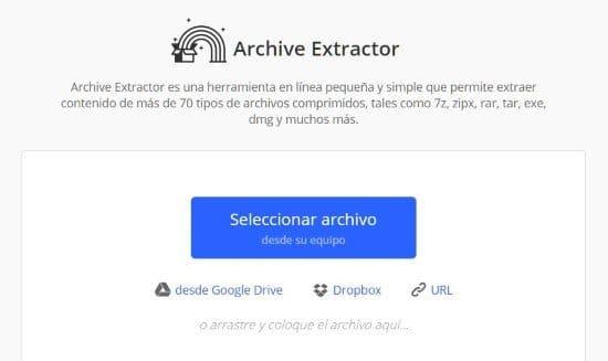 Descomprimir y comprimir archivos online
