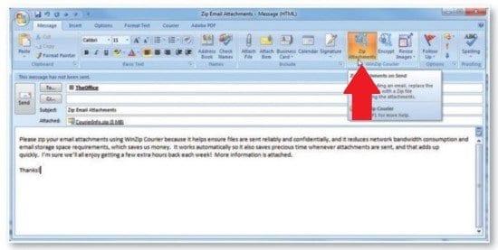 Cómo usar Winzip Courier con el correo electrónico