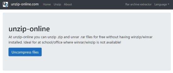 Servicios online para comprimir y descomprimir archivos