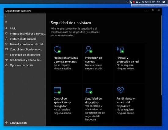 Configuración de seguridad en Windows