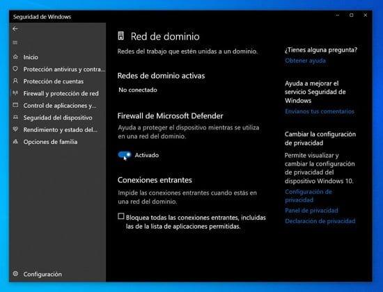 Seguridad para redes en Windows